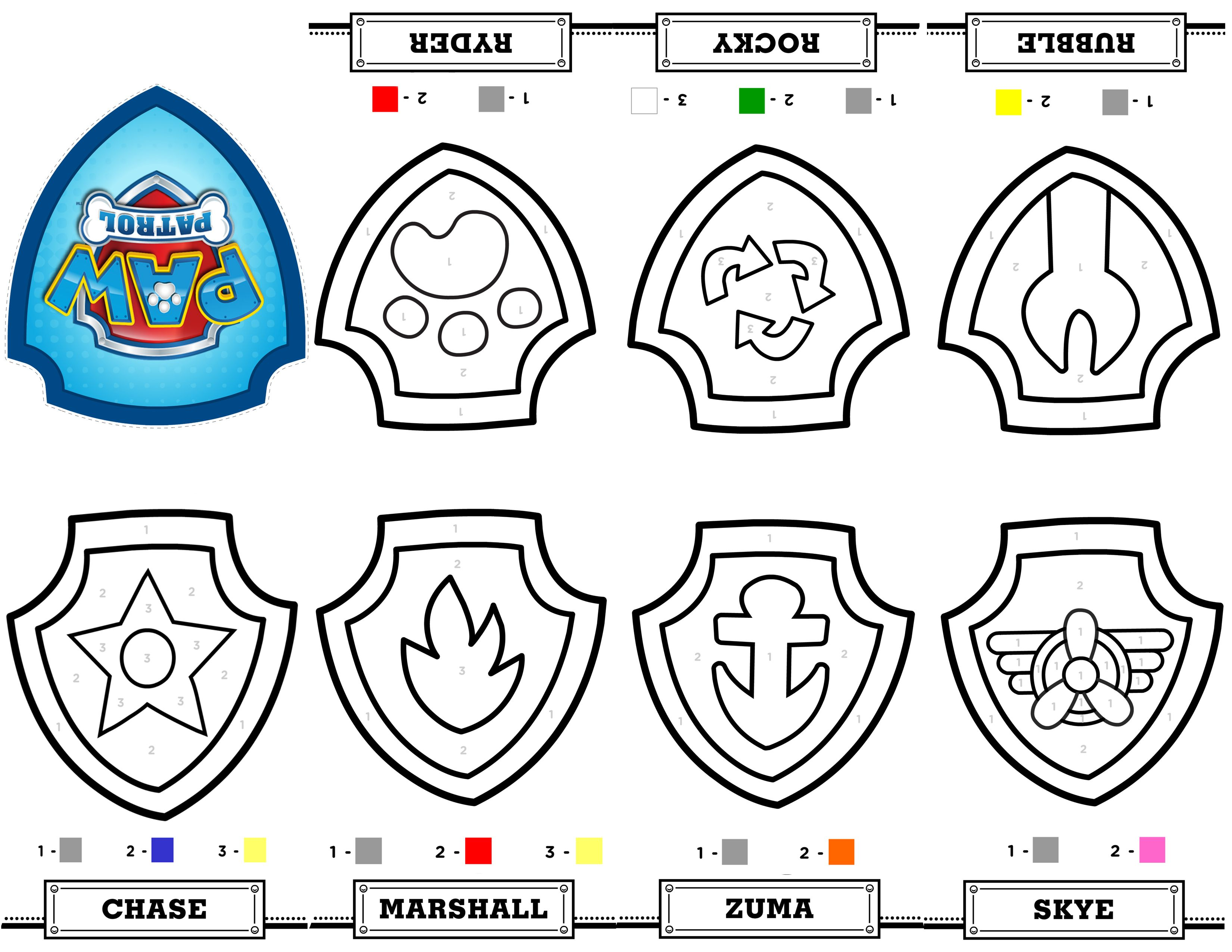 Free printable mini paw patrol coloring book from a single sheet of paper