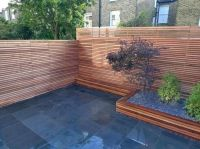 garden design, Small Backyard Ideas With Wooden Fence ...
