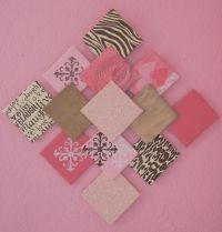 cardboard scrapbook paper wall art ...
