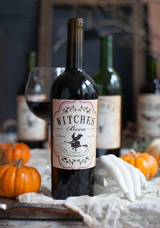 DIY Les bouteilles dégueux du0027Halloween mais si jolies Bottle - free wine bottle label templates