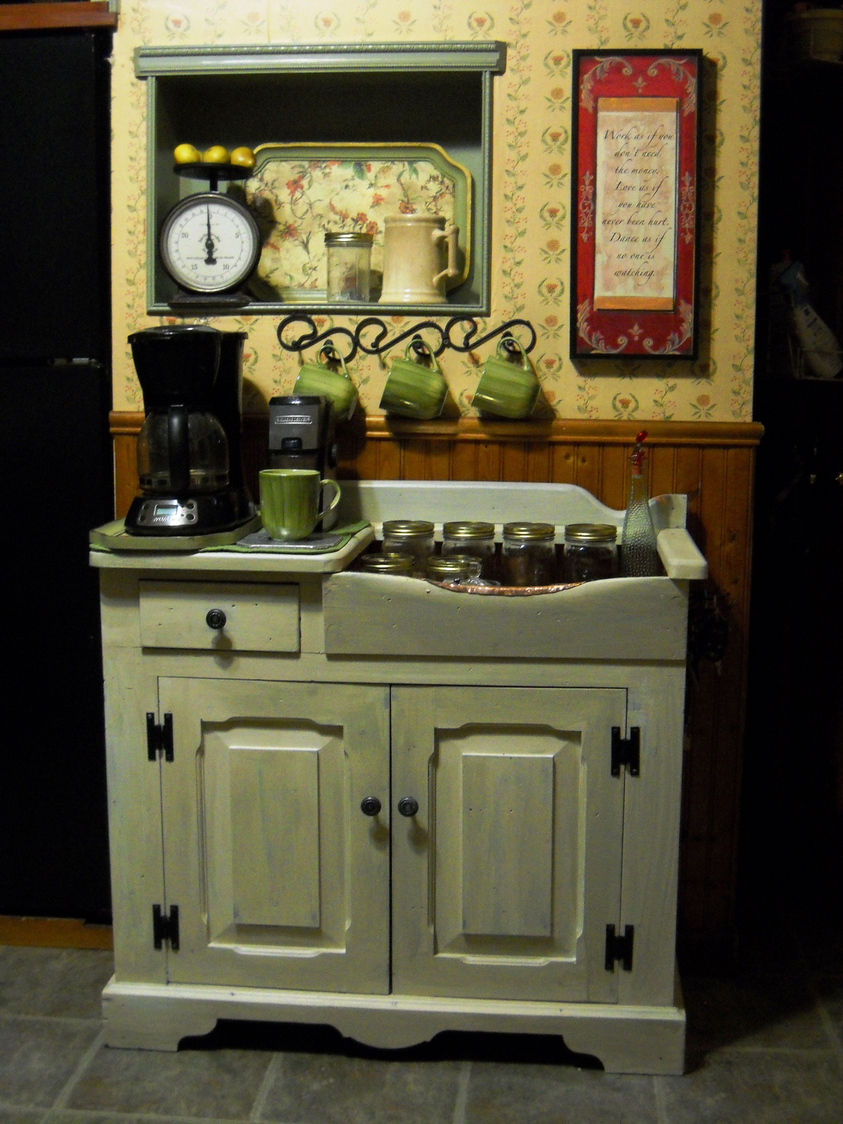 refinish kitchen sink Dry Sink Makeover and Decorating Ideas This is an old dry sink that we refinished
