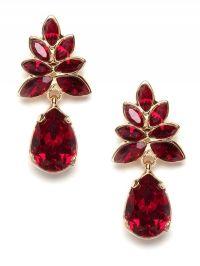 Ruby red earrings by Caught my eye   Infinite Style ...