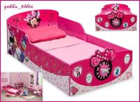 Interactive Wood Toddler Bed Minnie Mouse Kids Disney ...