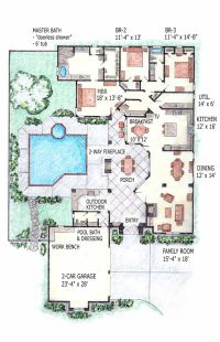 Contemporary Home Mansion House Plans Indoor Pool Home