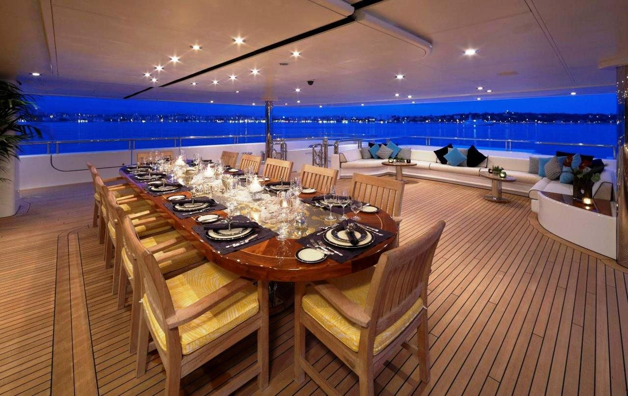 Al Fresco Inside Of Mega Yachts Luxury Yacht Charter Superyacht