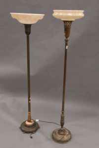 Floor Lamps Parts on Two Vintage Floor Lamps With Indirect ...