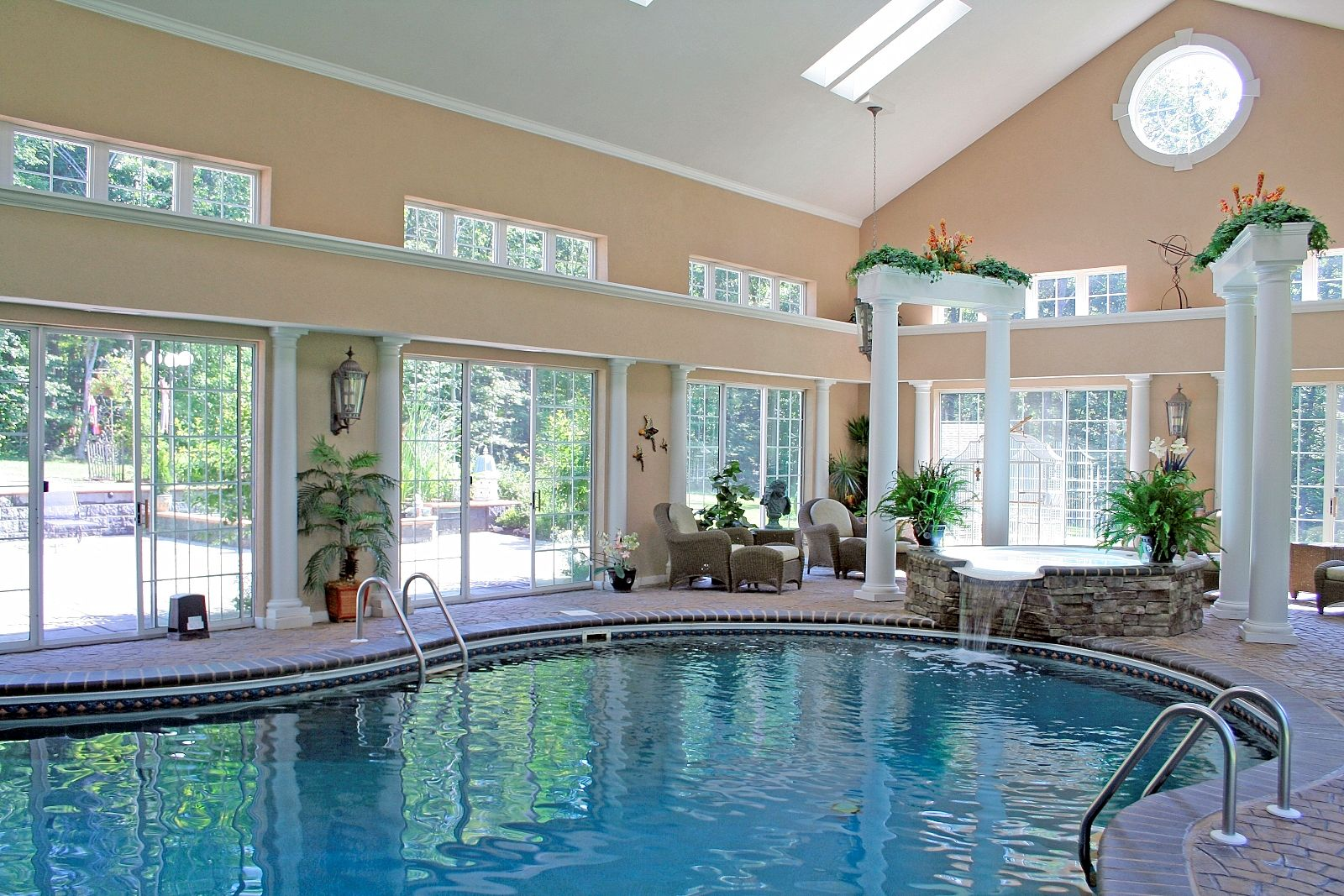 pools on inside big houses modern home design the house swimming download