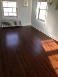 Red Oak floor with a rich Dark Walnut Stain | wood ...