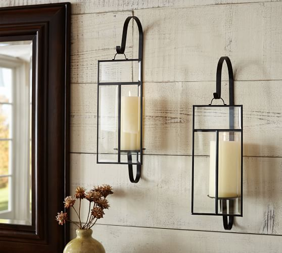 love the idea of wall sconces in living roomu2026 either candle or - wall sconces for living room
