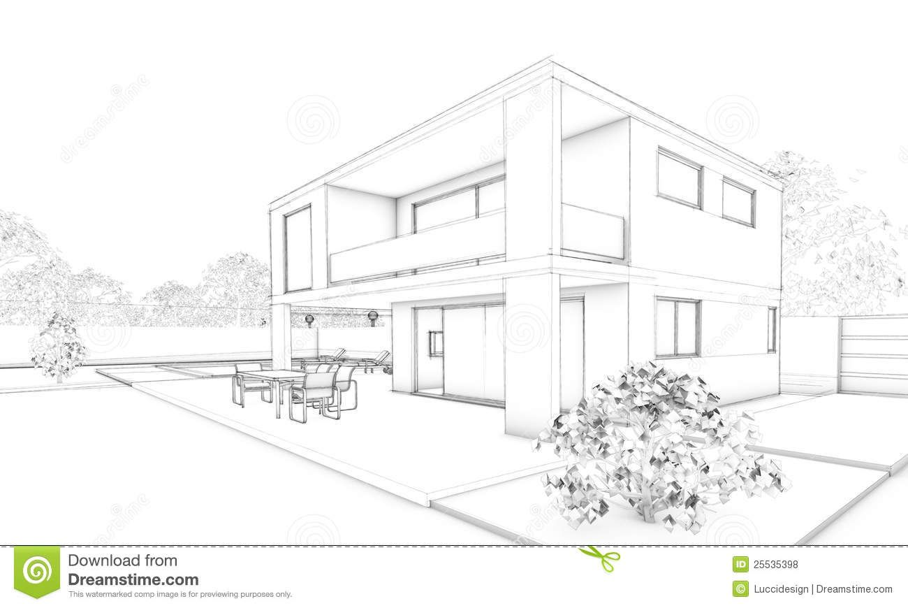 Decoration Simple Architectural Sketches With Sketch Of Modern