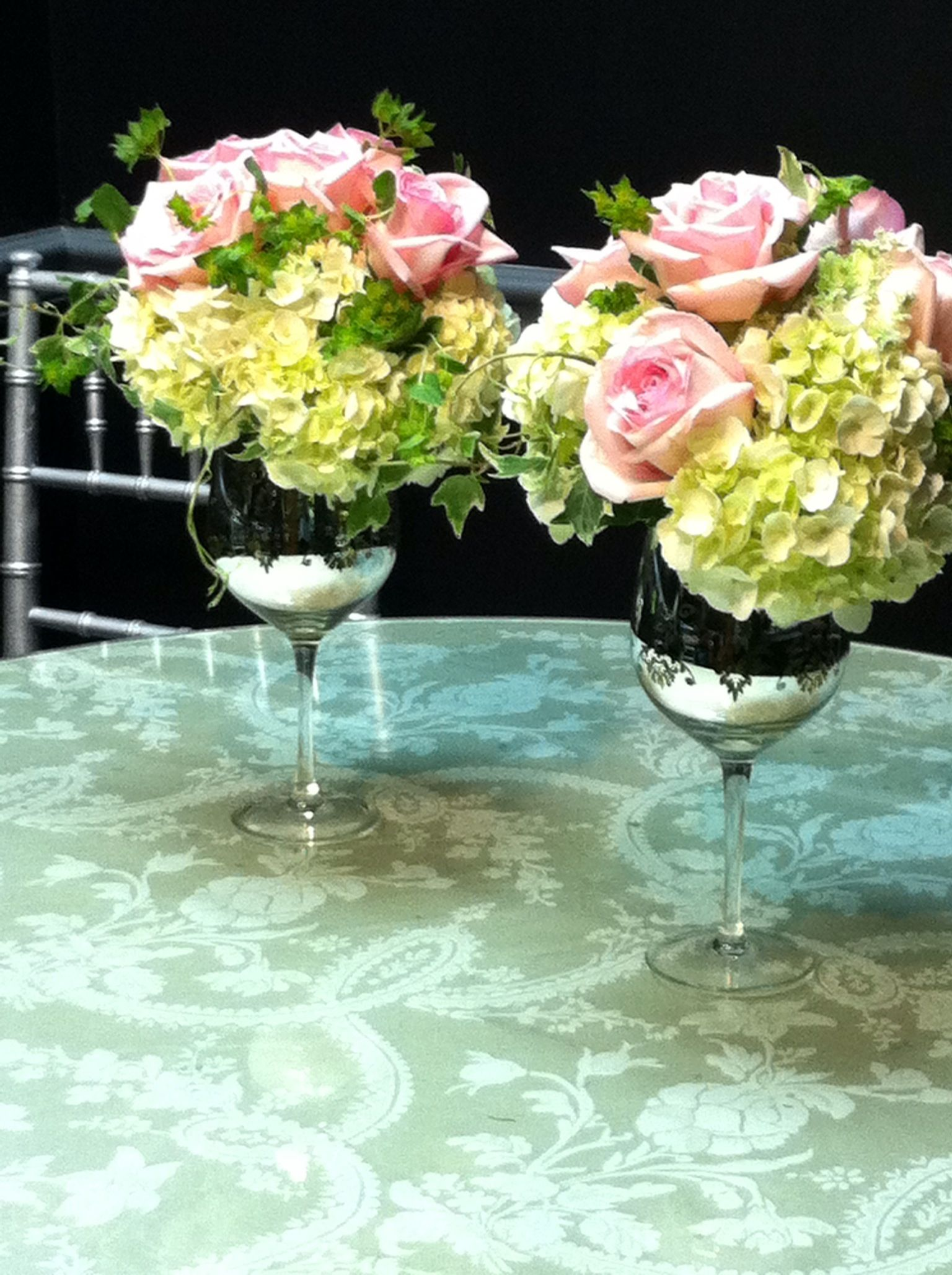 Giant Wine Glass Decorations Wine Glass Wedding Flower Arrangements A Repurposed