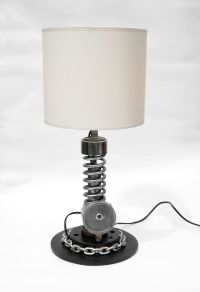 Desktop lamp by RUSTWELD shock absorber version SOLD