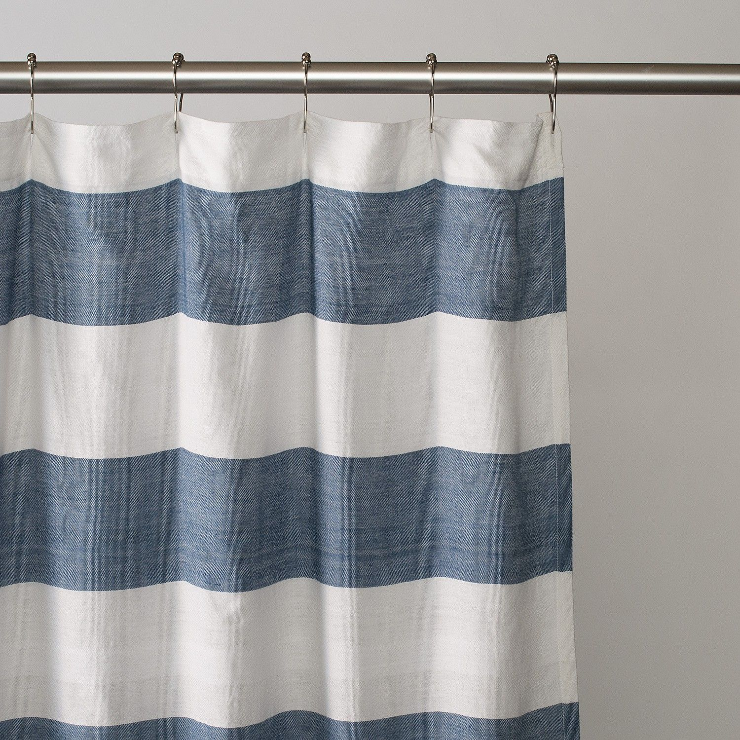 Nautical stripe shower curtain - Download
