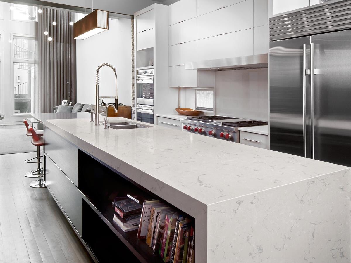 Kitchen Countertops Design Pinterest Sleek Contemporary Kitchen With Cambria Swanbridge