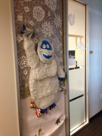 Abominable Snowman! Complete with reindeer under his feet ...