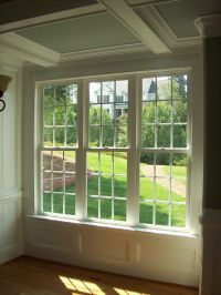 Coffered Ceiling, Wall panel, and window casing trim ...