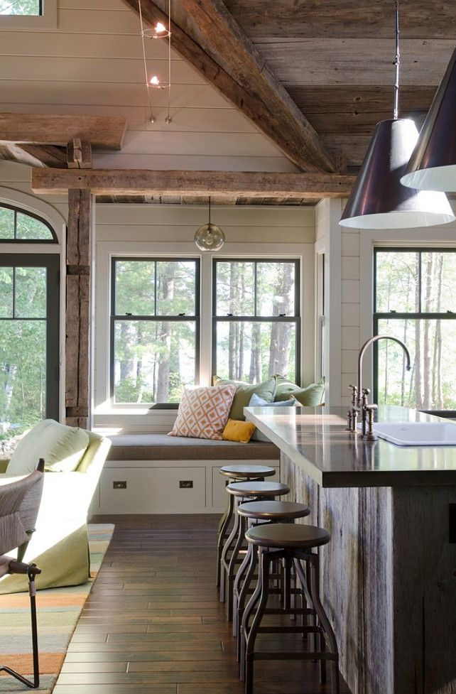Rustic Lake House -  - lake house kitchen ideas