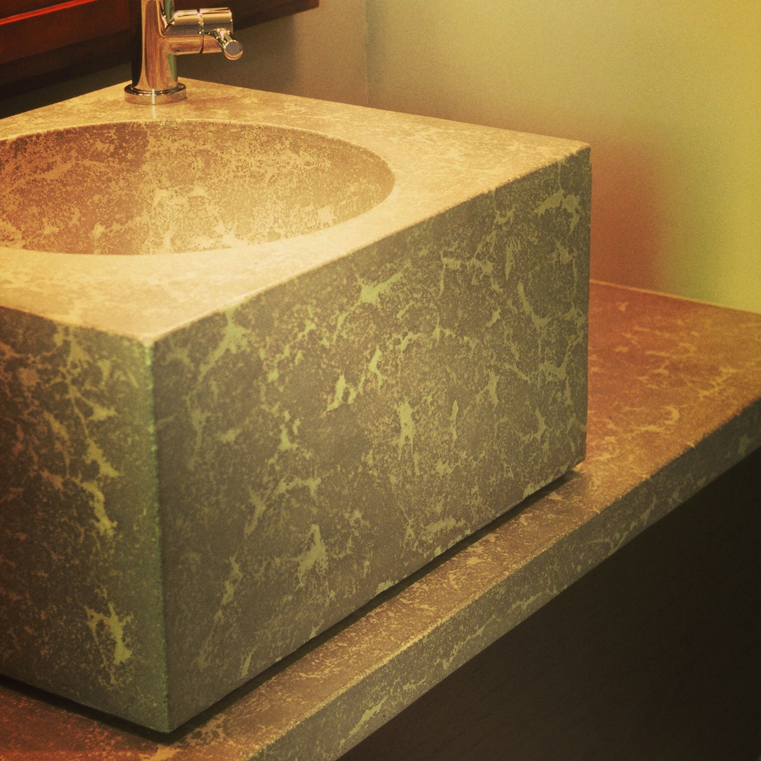 Concrete Countertop Mix Design Vanity Made With The 39press 39 Technique Using The Buddy