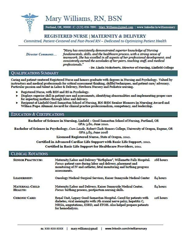 13 New Graduate Nursing Resume Sample Resumes Nursing Things - nursing resume templates free