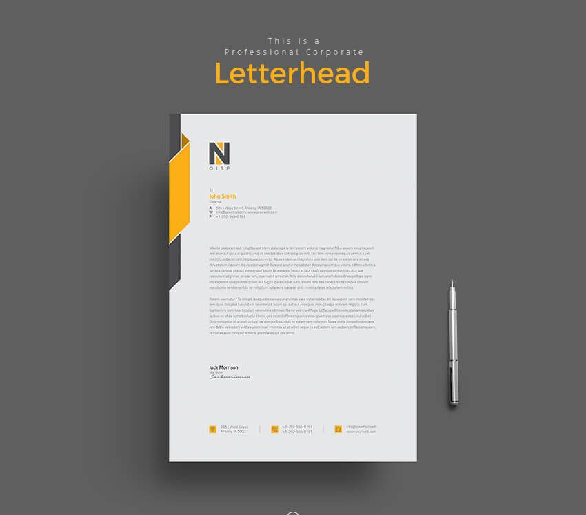 11 Tips for Creating Professional Letterhead Design\/Learn Adobe - professional letterhead
