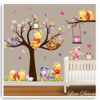 Winnie the pooh wall stickers owl animal nursery baby kids ...