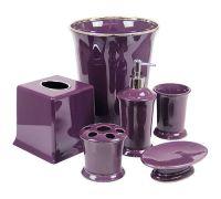 Regal Purple Bathroom Accessories DELUXE SET | Purple ...