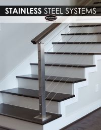 The sleek design of stainless steel cable rail systems