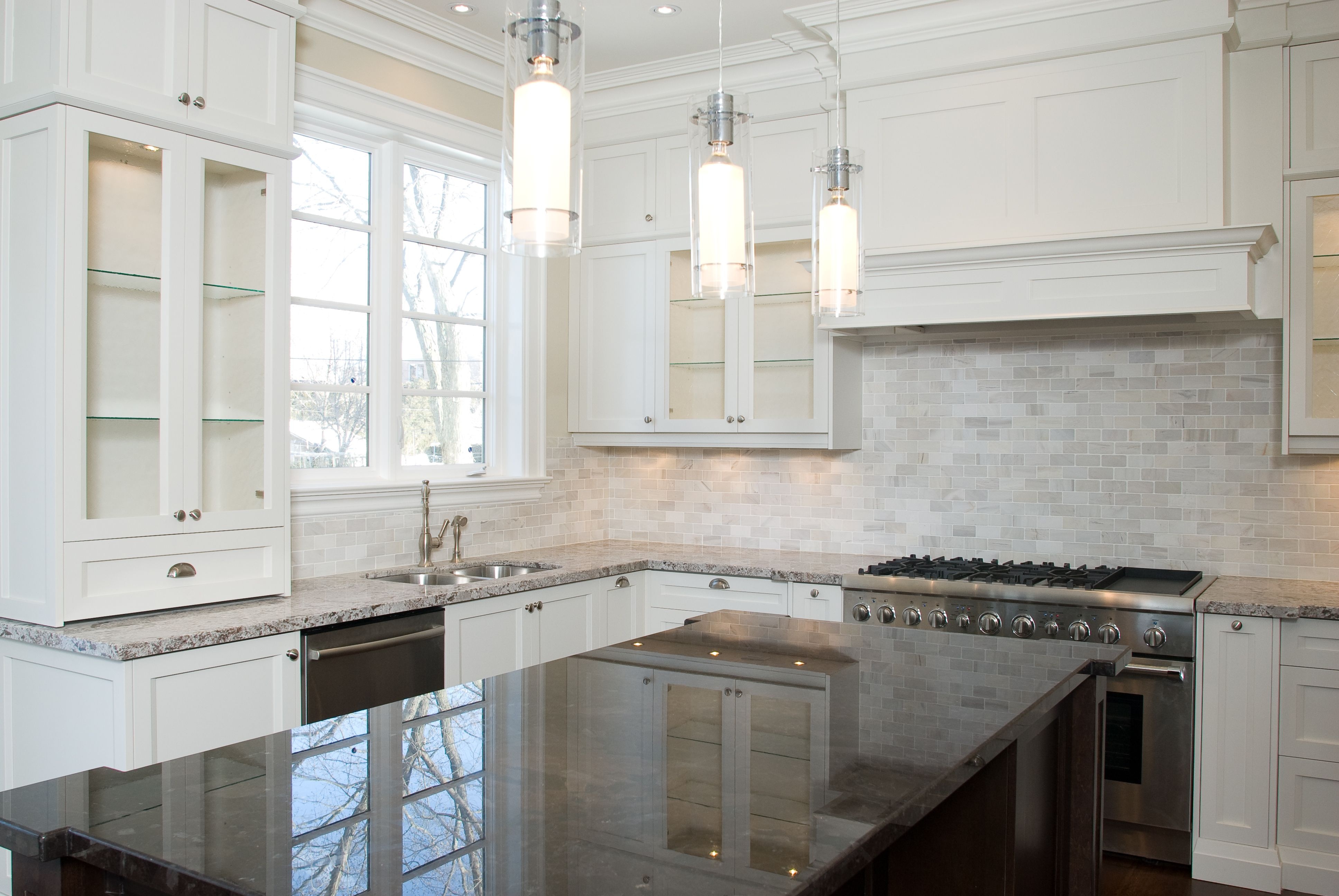 Kitchen Cabinets To Ceiling With Glass Great Tube White Glass Ceiling Light Chrome Polished Over
