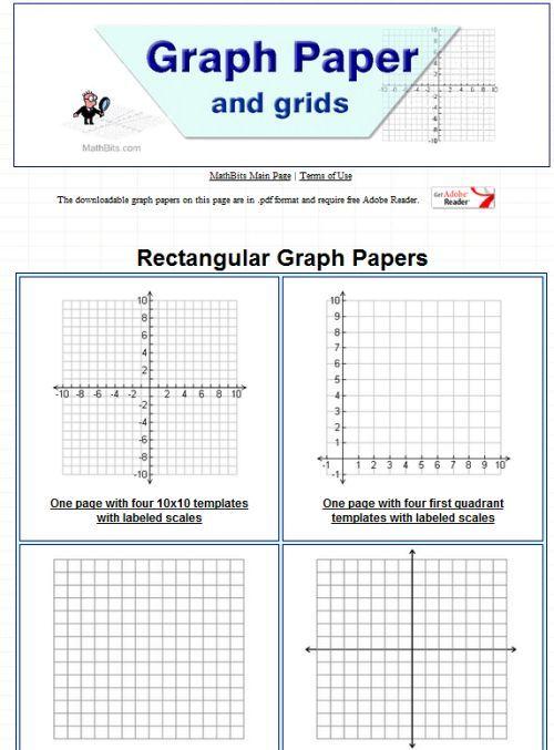 printable graph paper Math Estimating\/Data\/Coordinate Grid - free printable grid paper for math