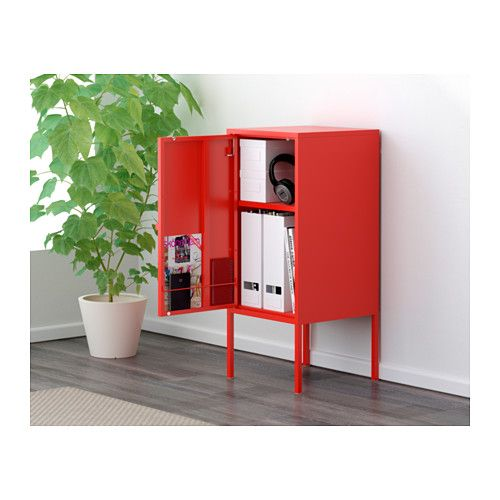 Lixhult Cabinet Metal Red Lixhult Cabinet, Metal, Red | Metals, Butcher Blocks And