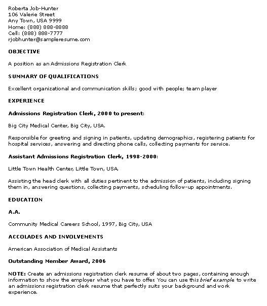 Resume With No Experience - http\/\/jobresumesample\/1742\/resume - clerical job resume