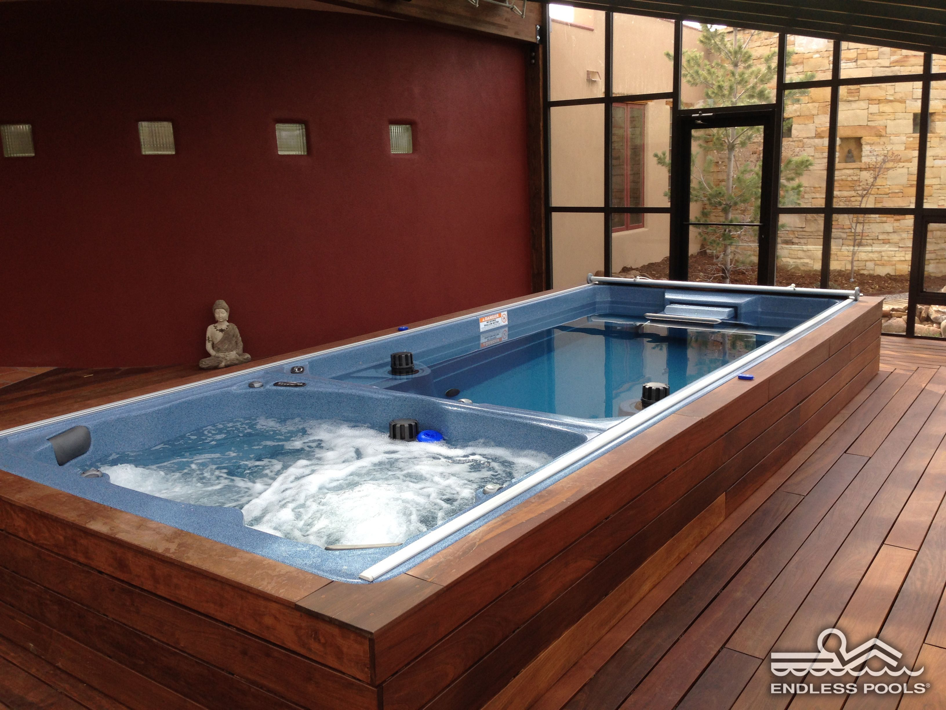 Jacuzzi Endless Pool How Zen Would You Feel In This Endless Pool Swim Spa