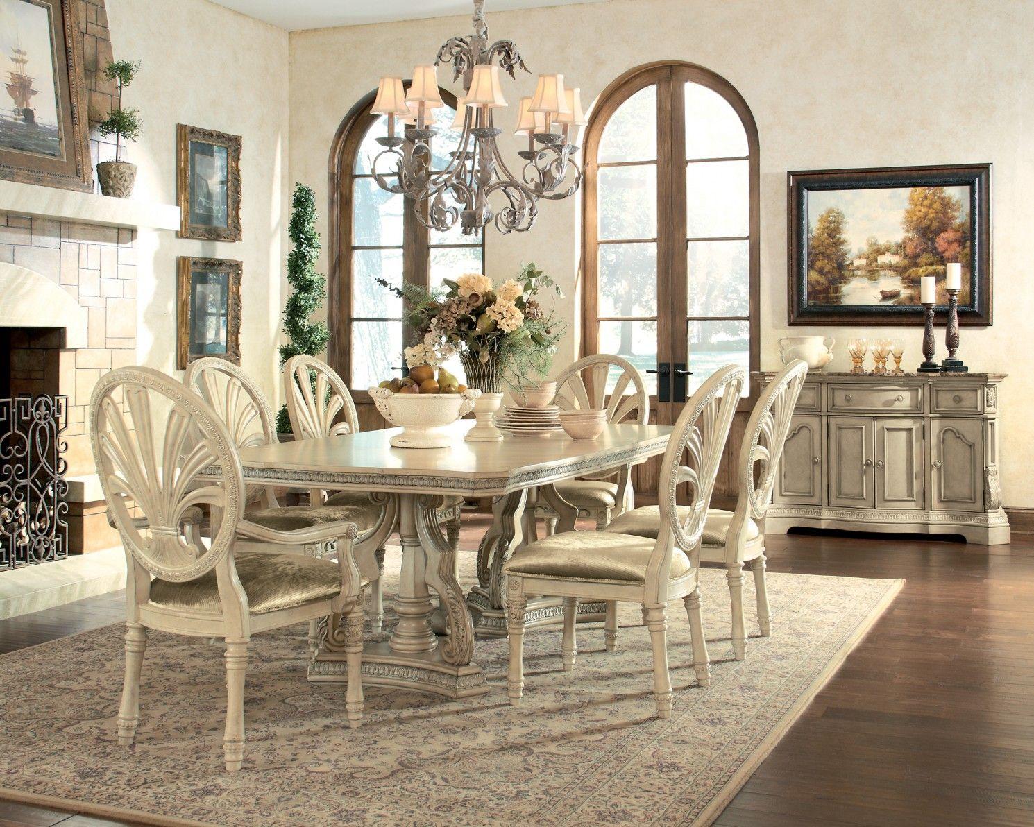 Ashley ortanique d707 60 millennium dining room server dining room setsdining tablepedestal