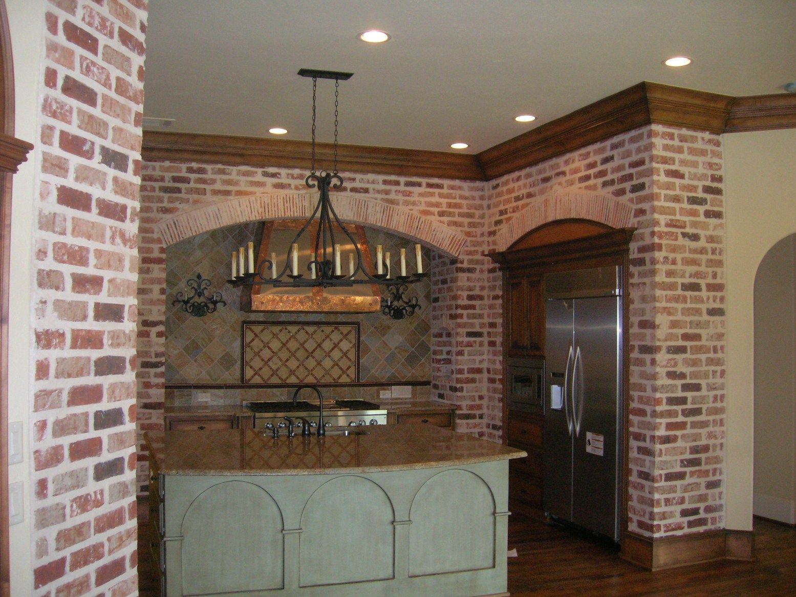 Kitchen Brick Wall Brick Kitchen Google Search For The Home Pinterest
