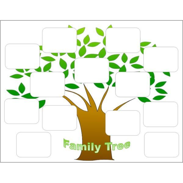 Create a Family Tree With the Help of These Free Templates for - blank family tree template