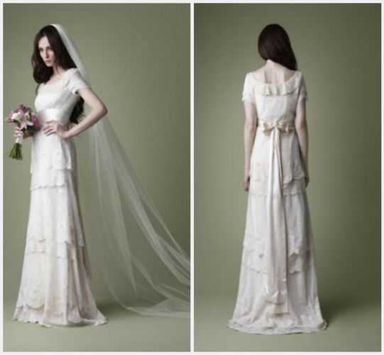 simple vintage wedding dresses Vintage Style Wedding Gown Inspirations Weddings the Joys and Jitters