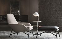 Prince chair and footstool by Minotti | Furniture ...