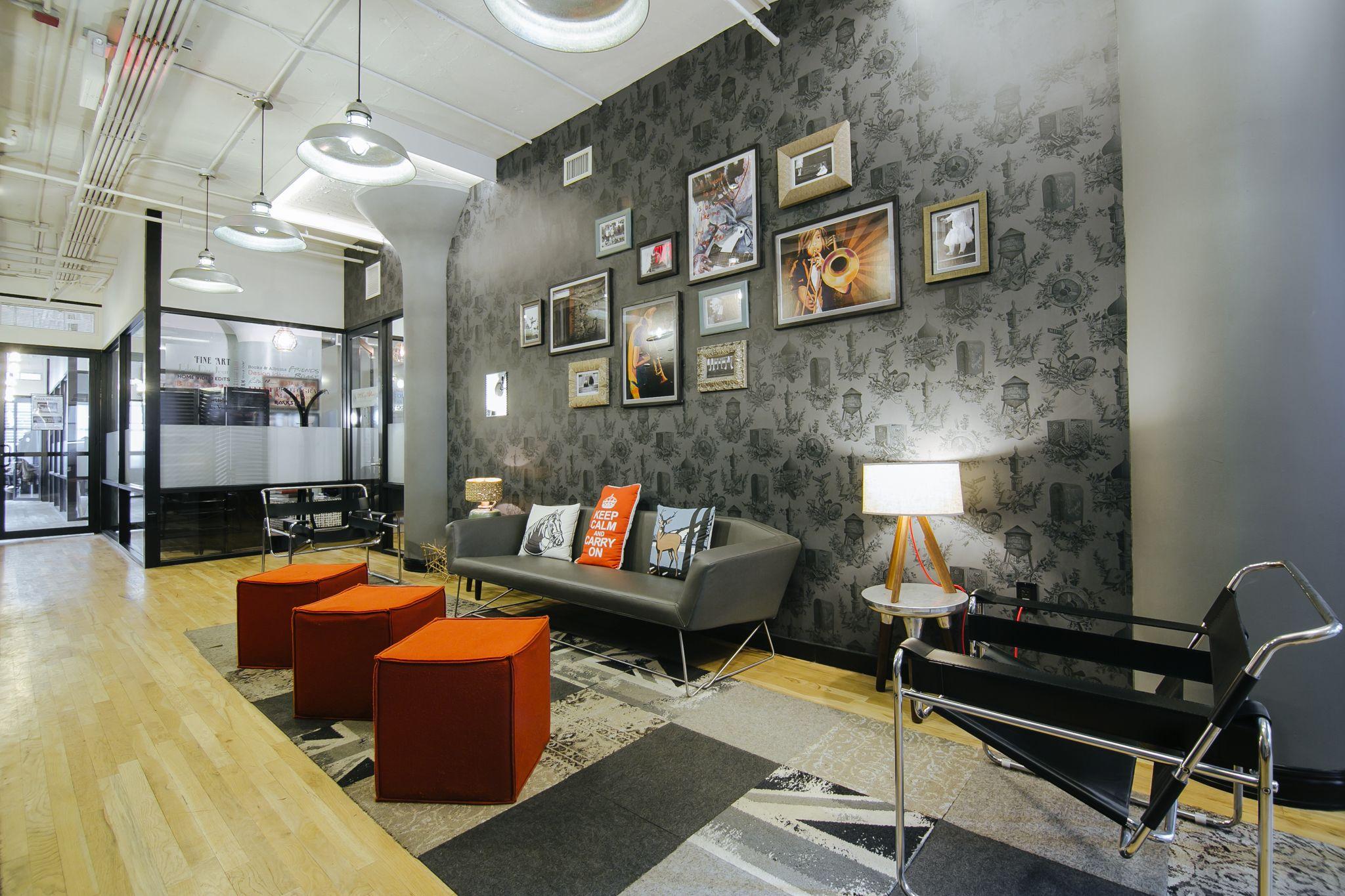 Wework google search interior officeoffice interiorscollaborative spacework spacescolor artsohoinspiring