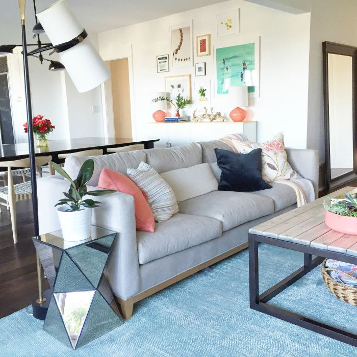 House goals relaxed and colorful living room (Crate and Barrel - crate and barrel living room