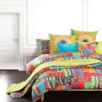 Bohemian exotic bedding, colorful modern duvet cover ...