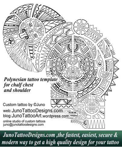 Polynesian tattoo shoulder, juno tattoo designs, Dwanye Johnson - tattoo template