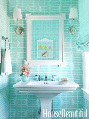 1000+ Images About Small Powder Room On Pinterest | Glass Shelves