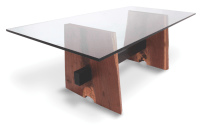 One of Rotsen's glass top dining tables made in ...
