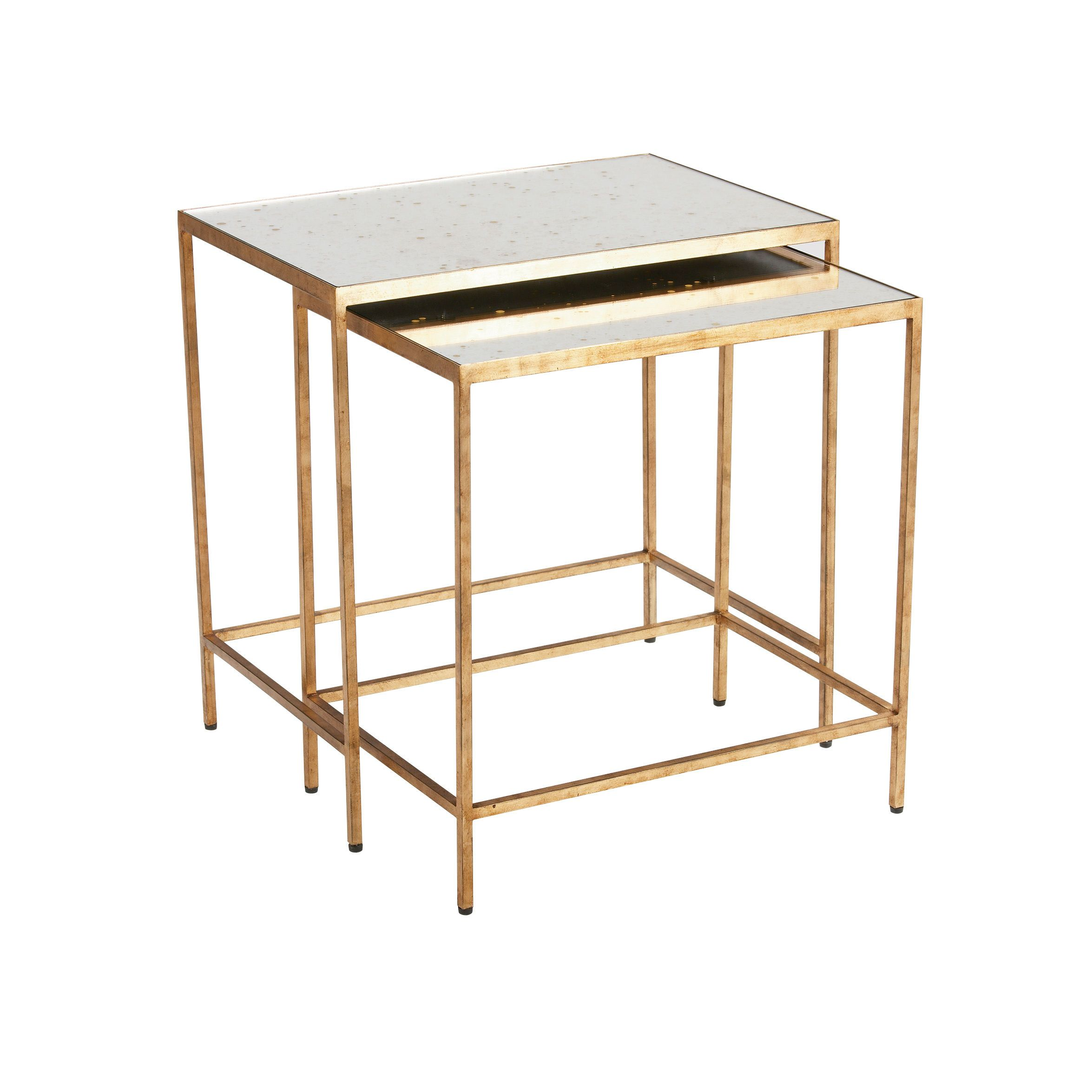 Stacking End Tables Zachary Nesting End Tables Ethan Allen Us Mirrored End