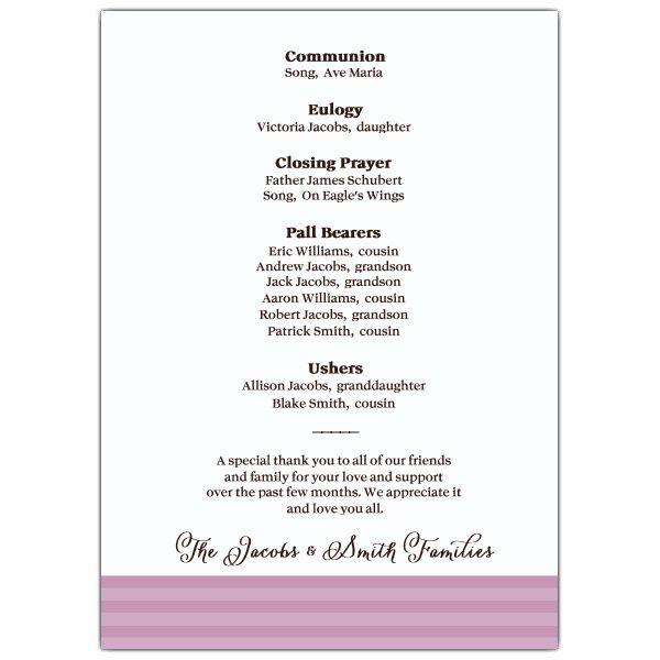 memorial service programs sample SKU 638-57FN-066 MEMORIAL - funeral announcement sample