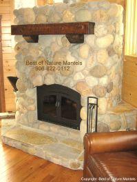 fireplace mantels | wood fireplace mantels, log mantel ...