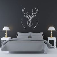 Bedroom Wall Decal: Geometric Deer and Antlers (20.00 USD ...