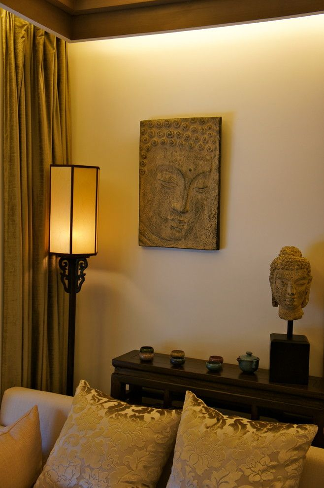 Superb Buddha Statues decorating ideas for Beguiling Living Room - living room statues