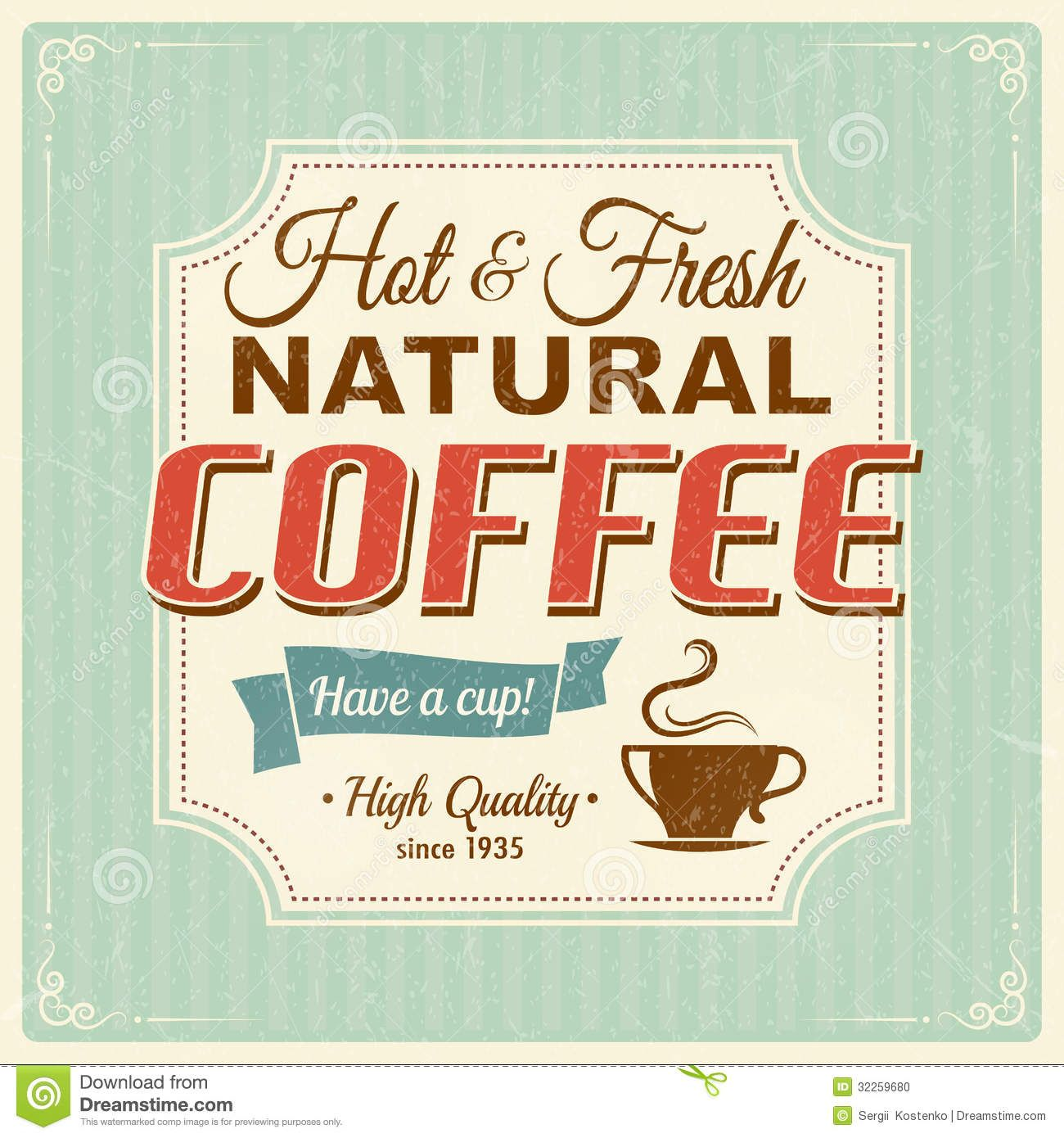 Kaffee Poster Vintage Coffee Vintage Coffee Poster With Grunge Effects