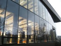 Stick system curtain wall / aluminum and glass MULLION ...